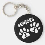 Seniors '11 Paw Prints Keychain