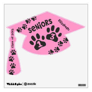 Seniors '13 Paw Prints - Class Of 2013 Wall Skins