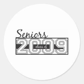 Seniors 2009 classic round sticker