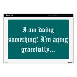 """seniors - aging gracefully 17"""" laptop skins"""