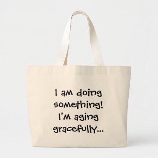 seniors - aging gracefully canvas bag