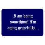 seniors - aging gracefully rectangle magnets
