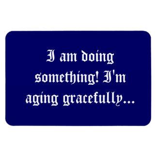 seniors - aging gracefully rectangular photo magnet