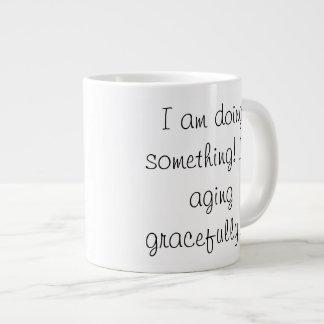 seniors - aging gracefully 20 oz large ceramic coffee mug