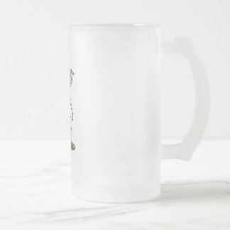 Seniors Bowling Frosted Glass Beer Mug