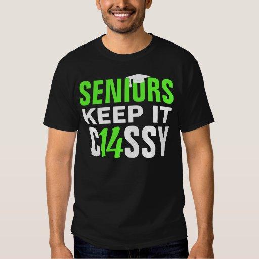 Seniors Keep it Classy Class of 2014 Bright Green Shirts