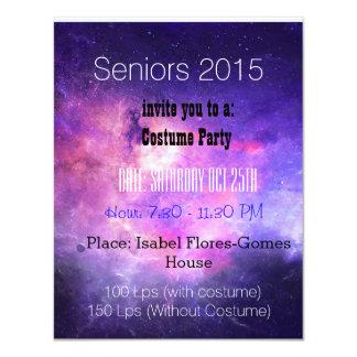 Seniors party card