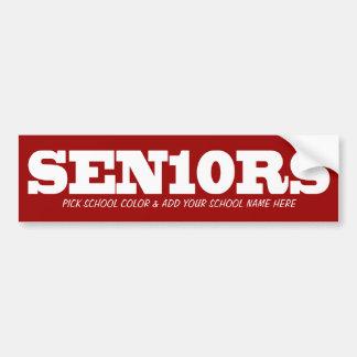 Seniors_Pick color and add School 2010 Bumper Sticker
