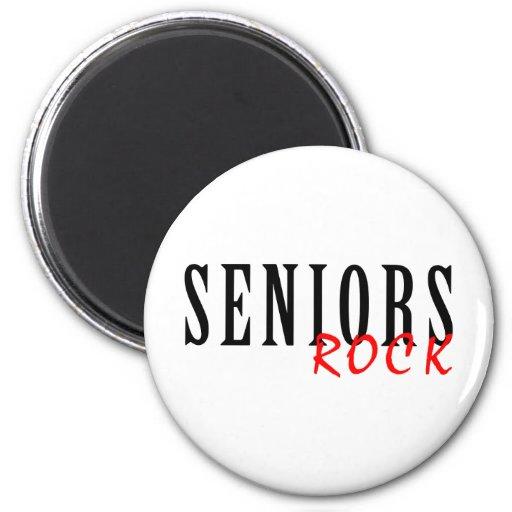 Seniors Rock Fridge Magnet