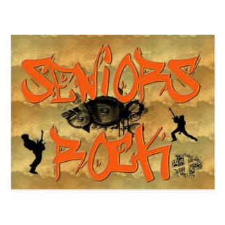 Seniors Rock - Guitar Players Postcard