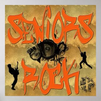 Seniors Rock - Guitar Players Poster