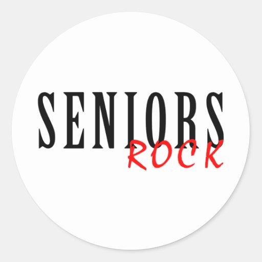 Seniors Rock Round Sticker