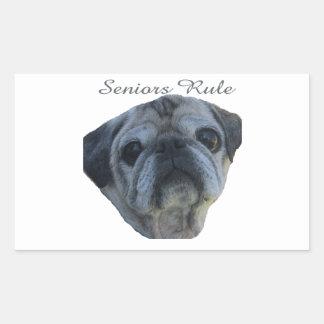 seniors rule rectangular sticker