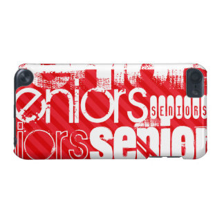 Seniors; Scarlet Red Stripes iPod Touch 5G Cover