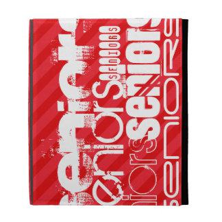 Seniors; Scarlet Red Stripes iPad Folio Cases