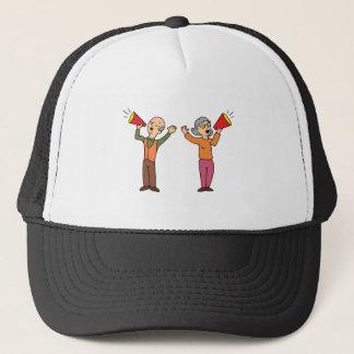 Seniors Shouting Through Bullhorns Trucker Hat