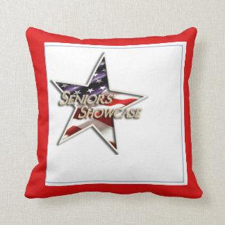 Seniors' Showcase Flag Star Pillow