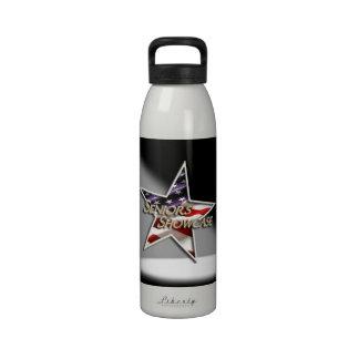 Seniors' Showcase Flag Star Spotlight Reusable Water Bottle