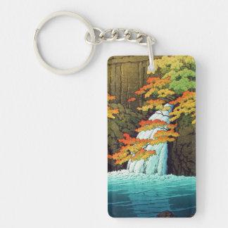 Senju Waterfall, Akame Hasui Kawase shin hanga art Keychain