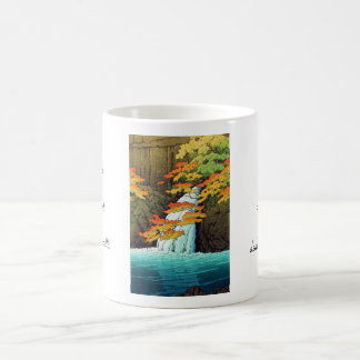Senju Waterfall, Akame Hasui Kawase shin hanga art Classic White Coffee Mug