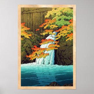 Senju Waterfall, Akame Hasui Kawase shin hanga art Posters