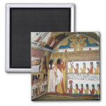 Sennedjem and his wife facing a naos 2 inch square magnet