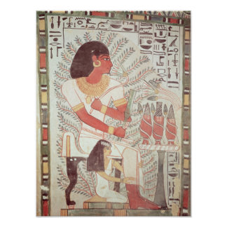 Sennefer seated with his wife,from Tomb Poster
