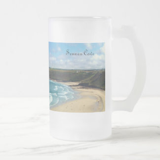 Sennen Cove Cornwall England Frosted Glass Beer Mug