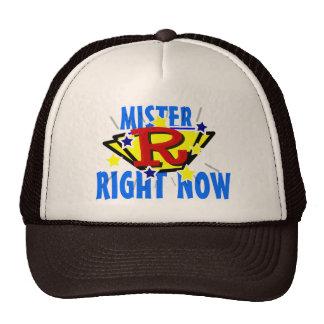 Señor ahora superhéroe divertido cómico gorras de camionero