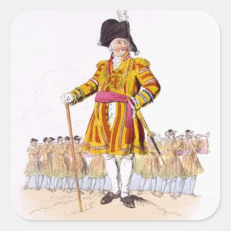 """Señor alcalde, del """"traje de Gran Bretaña"""", publi Pegatina Cuadrada"""
