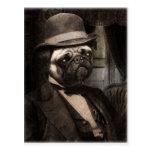 Señor apuesto del perro del barro amasado postales