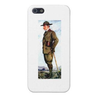 Señor Baden-Powell - fundador de exploración iPhone 5 Fundas
