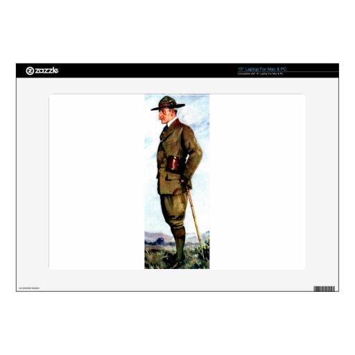 Señor Baden-Powell - fundador de exploración Calcomanía Para Portátil