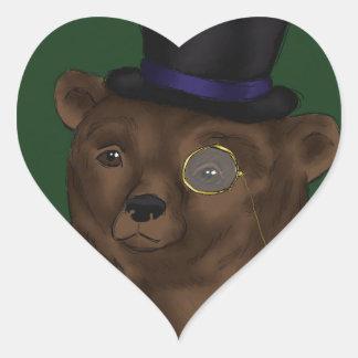 Señor Bear Heart Sticker Pegatina Corazon