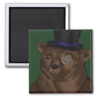 Señor Bear Magnet Imán Cuadrado