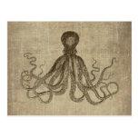 Señor Bodner Octopus Triptych del vintage Postal
