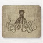 Señor Bodner Octopus Triptych del vintage Tapete De Raton