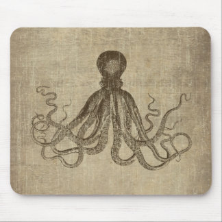 Señor Bodner Octopus Triptych del vintage Tapete De Ratón