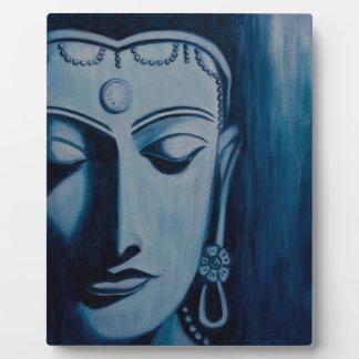 Señor Buda Blue Placa