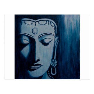 Señor Buda Blue Tarjetas Postales