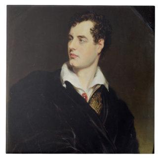 Señor Byron después de un retrato pintado por Thom Azulejo Cuadrado Grande