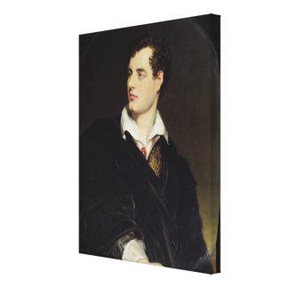 Señor Byron después de un retrato pintado por Thom Impresiones En Lona Estiradas