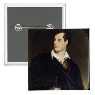Señor Byron después de un retrato pintado por Thom Pin Cuadrada 5 Cm