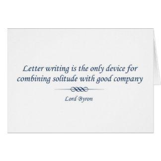 Señor Byron en letras Tarjeta De Felicitación