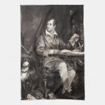 Señor Byron Portrait Victorian Poet de los 1800s d Toalla