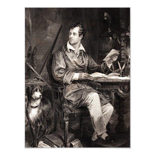 Señor Byron Portrait Victorian Poet de los 1800s d Arte Con Fotos