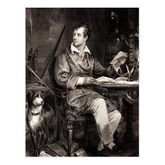 Señor Byron Portrait Victorian Poet de los 1800s Tarjetas Postales