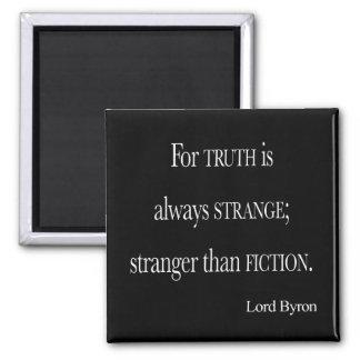 Señor Byron Stranger del vintage que cita de la fi Imán De Nevera