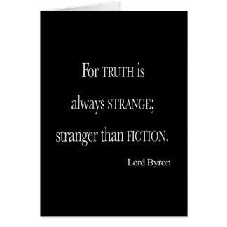 Señor Byron Stranger del vintage que cita de la fi Tarjeta De Felicitación