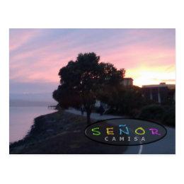 Señor Camisa Creative Sunrise Postcard